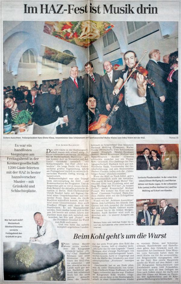 Hannoversche Allgemeine 05.11.2005