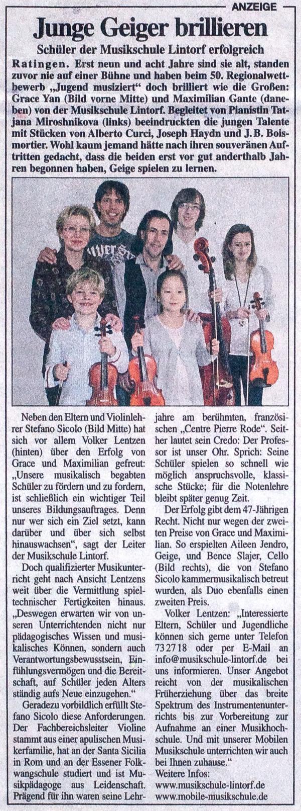 Ratinger Wochenblatt Jan. 2012